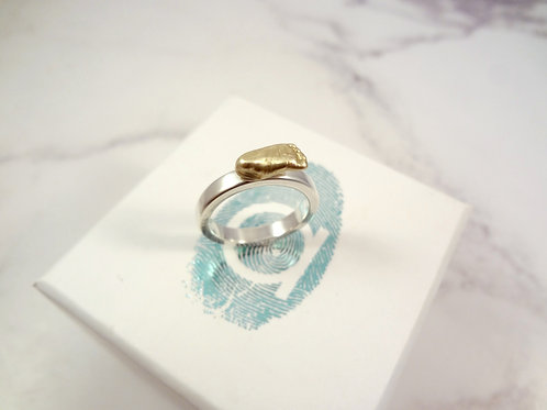 Gold Miniature Baby Casting Ring in Gold or Silver