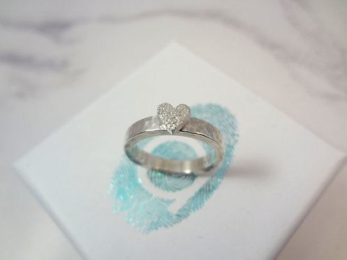 Small Pet Nose or Paw Print Texture ring