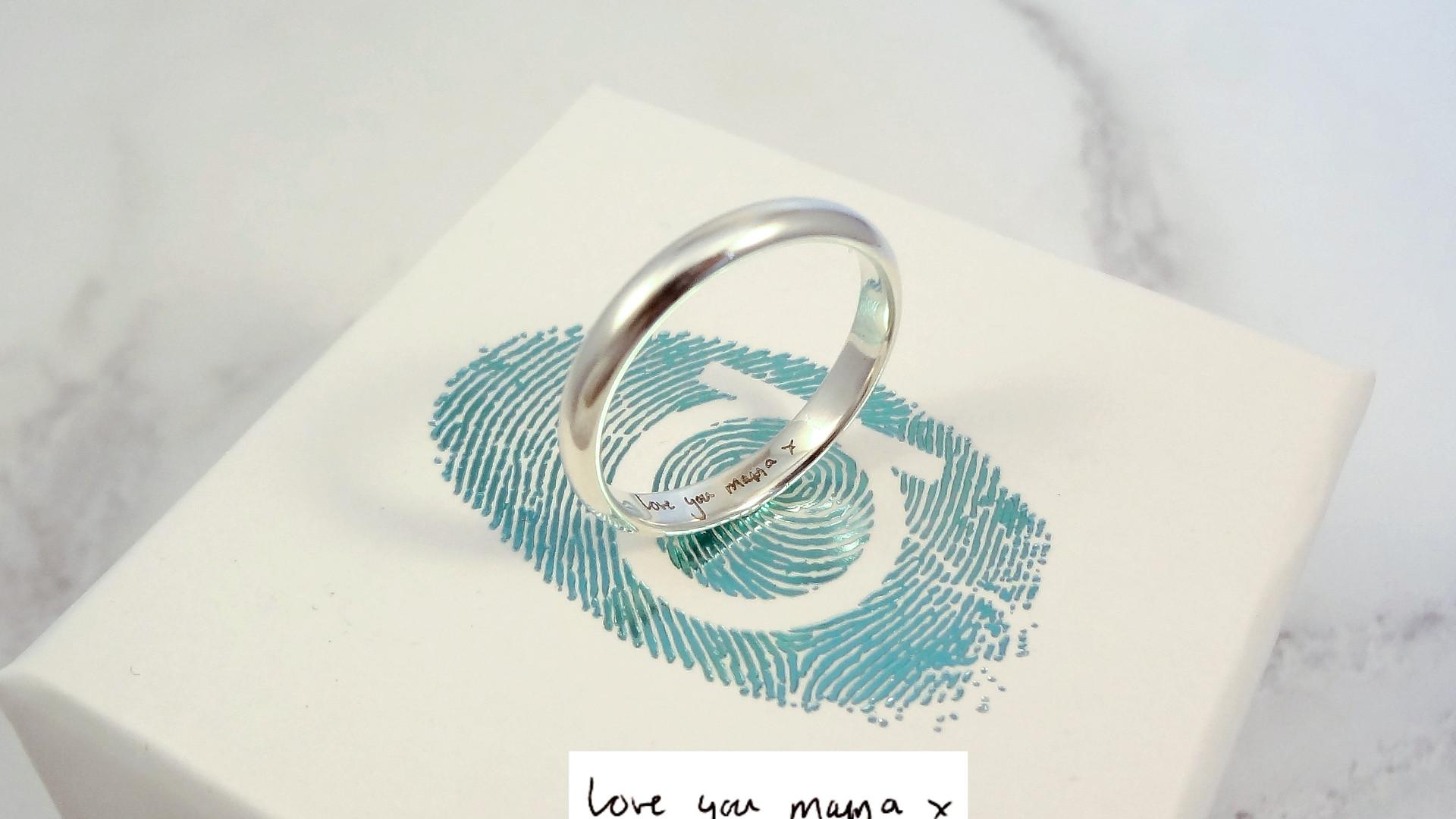 Handwriting ring