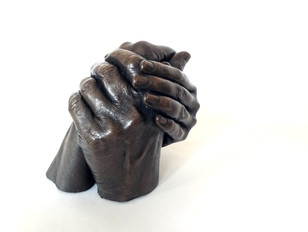 Bronze Family Hand Casting Manchester & London with Angelcasts