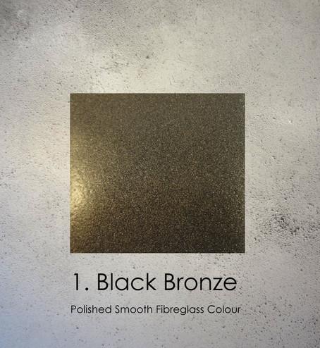Black Bronze Fibreglass Polished Sculpture colour by Angelcasts