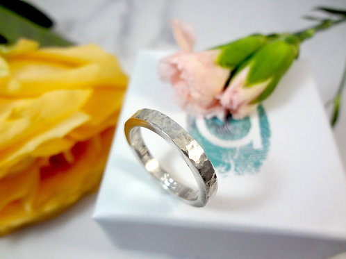 Secret Message Personalised Ring in Sterling silver