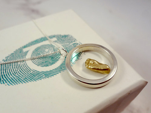 Eternity Miniature Baby Casting Jewellery in Gold and Silver