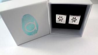 Paw Print Cufflinks with free print kits