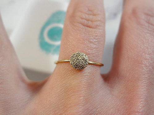 Gold Paw Pad Texture Skinny Ring