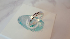 Roman Numerals personalised ring engraved