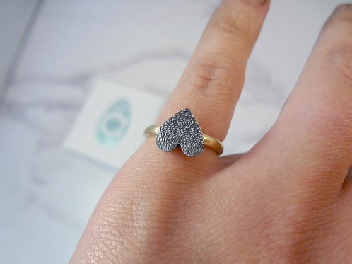 Large Pet Print with a Slim 9ct Gold Ring Band