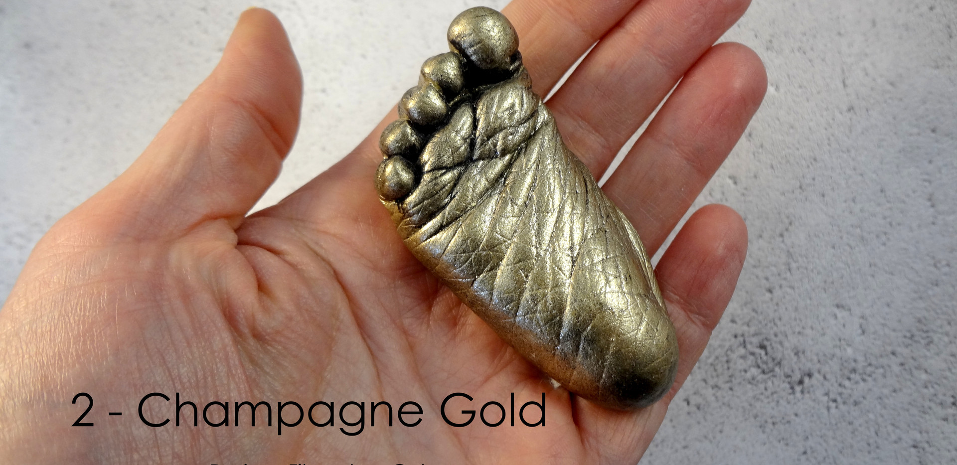 Champagne Gold Baby Casting by Angelcasts