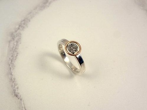 Rose Gold Eternity Circle Fingerprint Ring