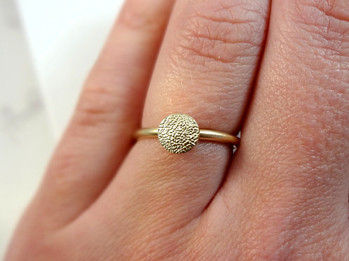 Gold Paw Pad Texture Chunkier Ring