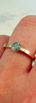 Elegant paw print ring uk pet jewellery