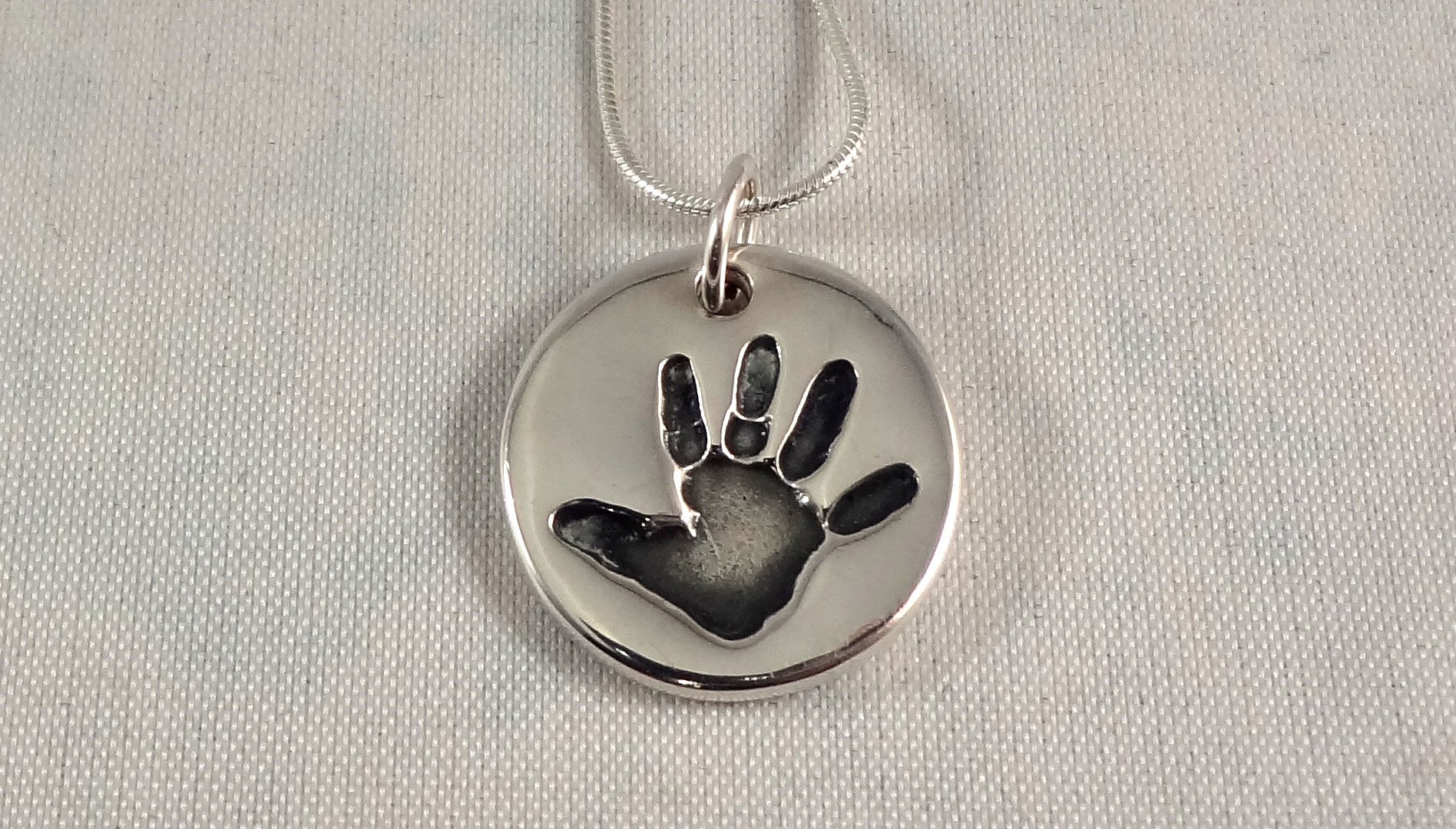 Double Sided Handprint Necklace