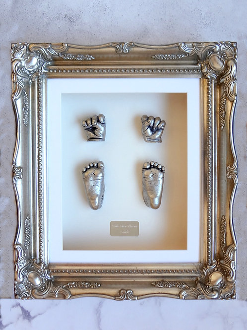 Plaster Baby Castings with Ornate Frame