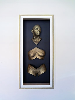 Framed body casting - broken body sculpture  by Angelcasts in Manchester & London