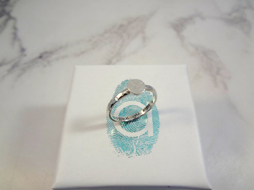 Hidden Handwriting Ring in Silver or Gold