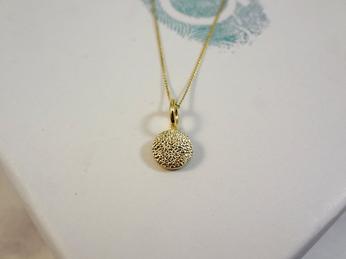 Gold Paw Pad Texture Dainty Pendant Necklace