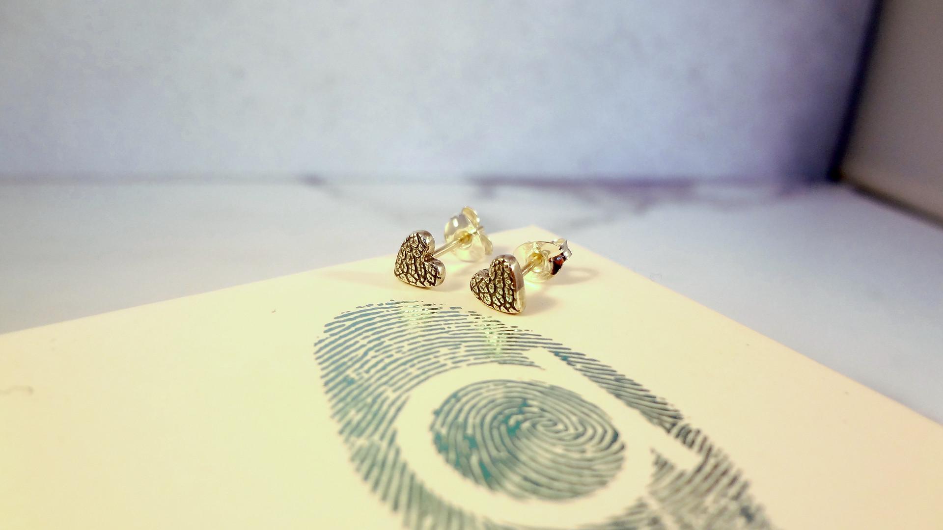 Nose print earrings