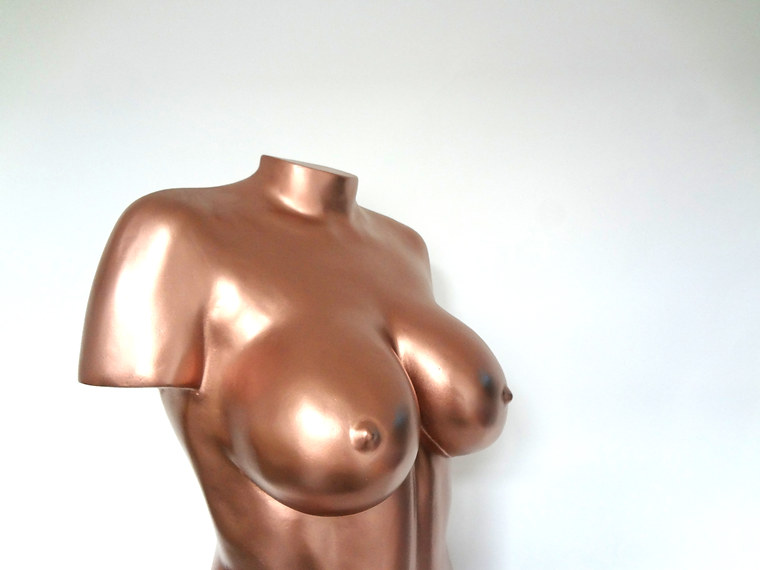 Full body casting in rose gold by Angelcasts in manchester body casting