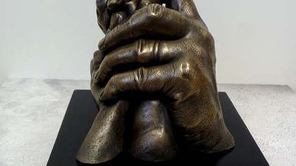 Family hand casting in bronze by Angelcasts in manchester & London