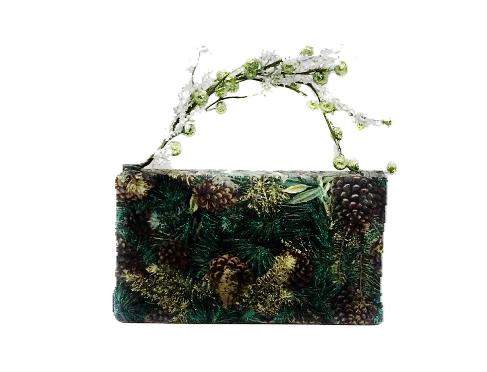 Frosted Forest Glittered Mini Bag