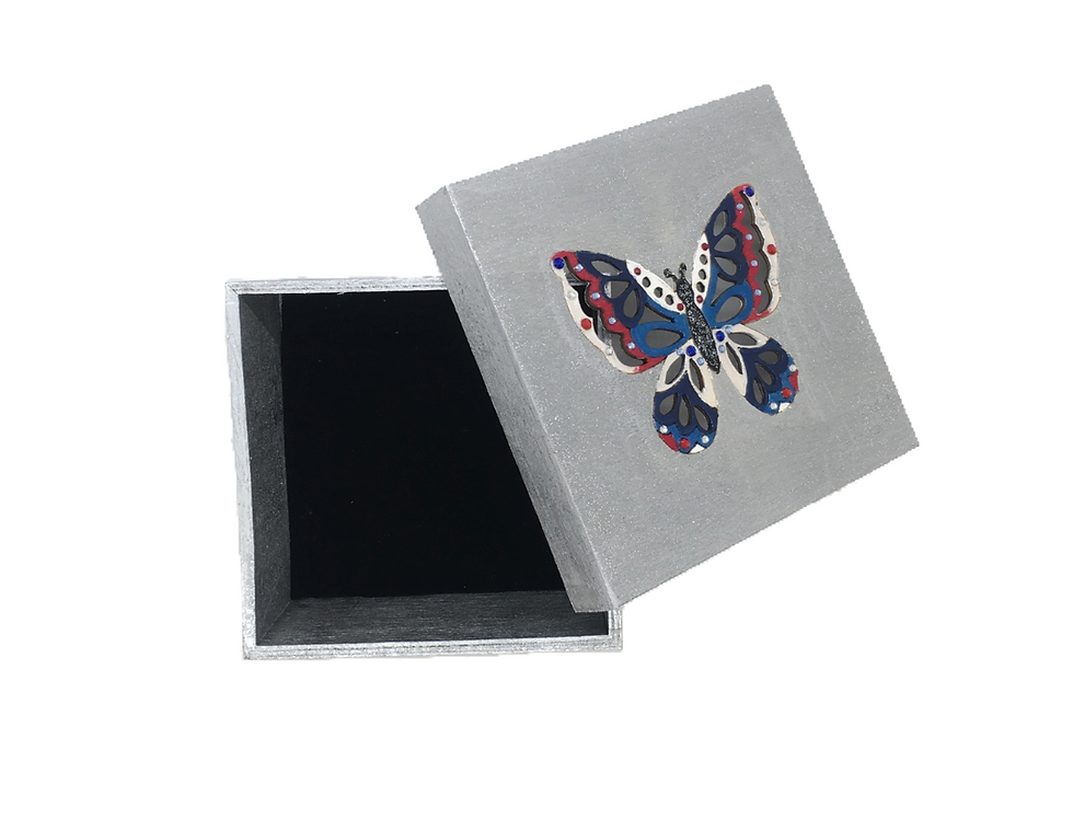 New Beginnings Crystal-Embellished Butterfly Jewelry Box