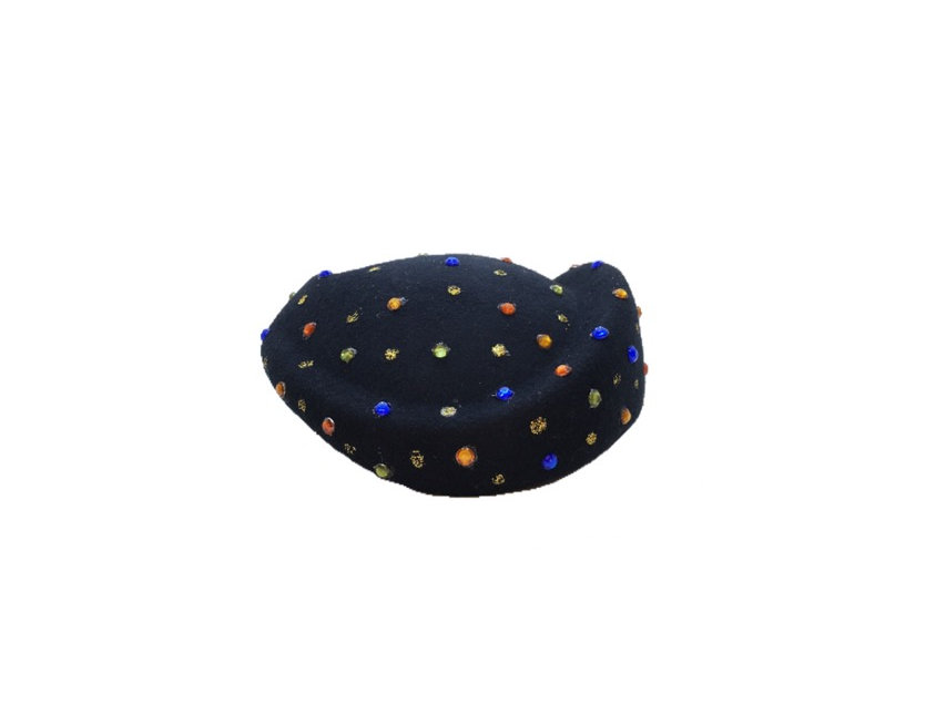 Faith Vision Embellished Wool Fascinator