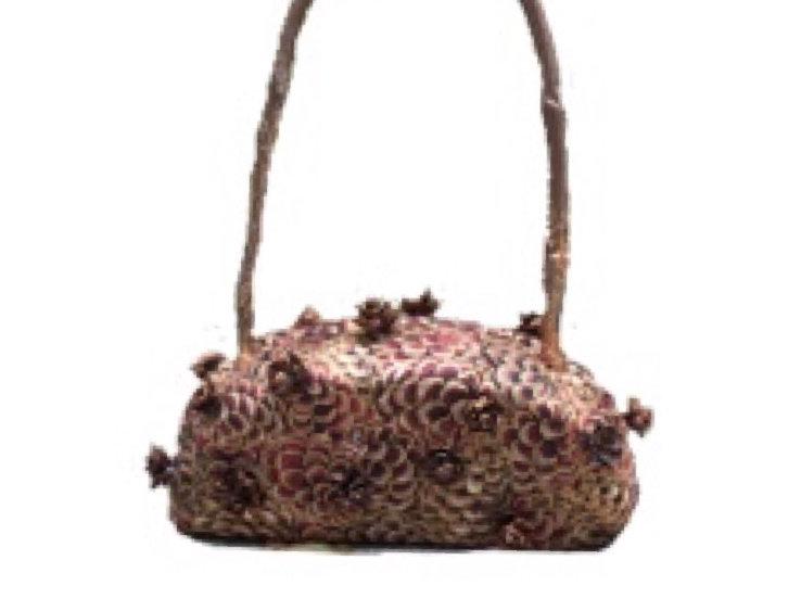 Golden Hibernation Embellished Micro Bag
