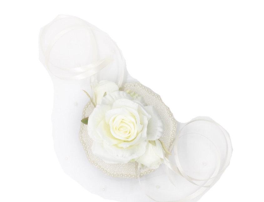 Sound of Heaven Embellished Netted Flower Fascinator Clip