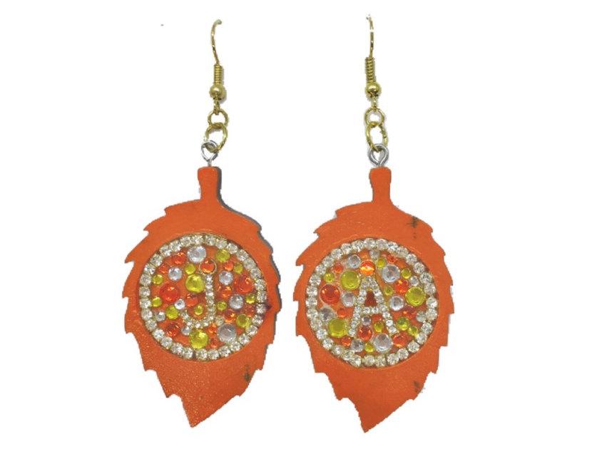 New Leaf Crystal-Embellished Statement Earrings