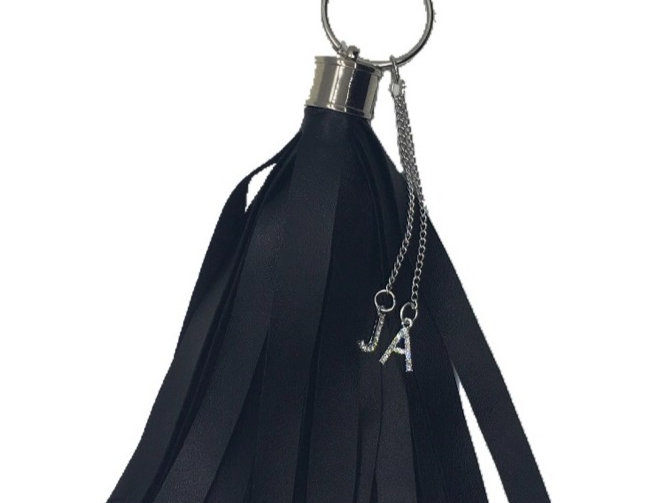 Equality Crystal-Embellished Faux-Leather Mini Tassel Keychain