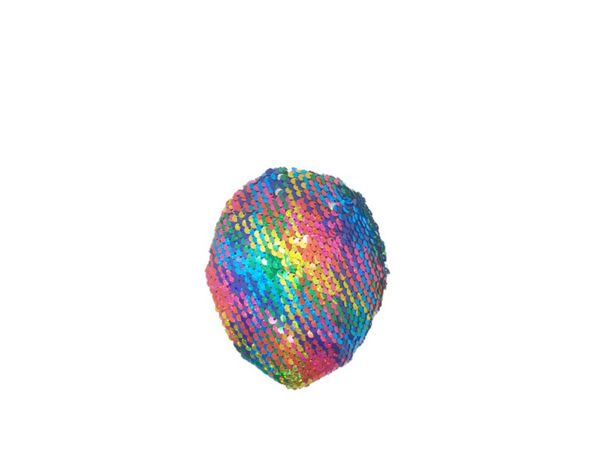 Two-Faced Rainbow Sequined Fascinator Clip