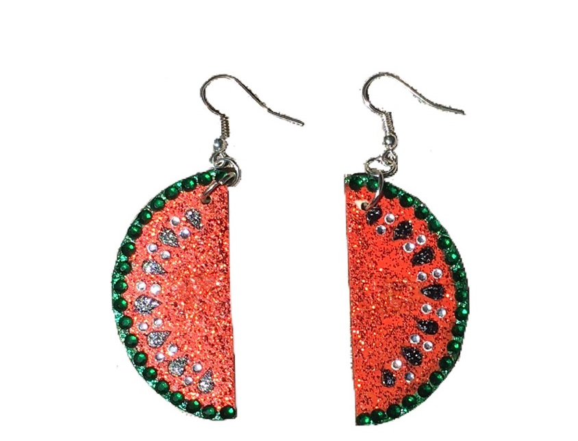 One In A Melon Crystal-Embellished Statement Earrings