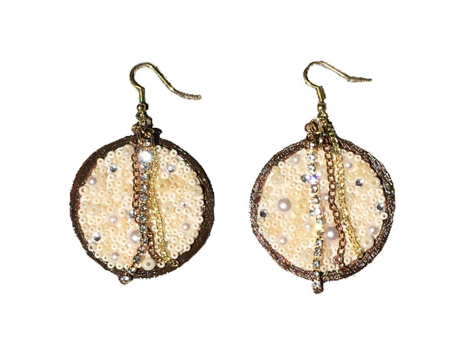 CoCo Beaded Crystal-Embellished Statement Earrings