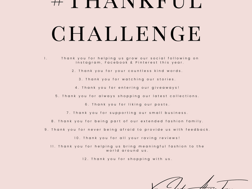 #ThankfulChallenge: 12 Things We Are Thanking You For
