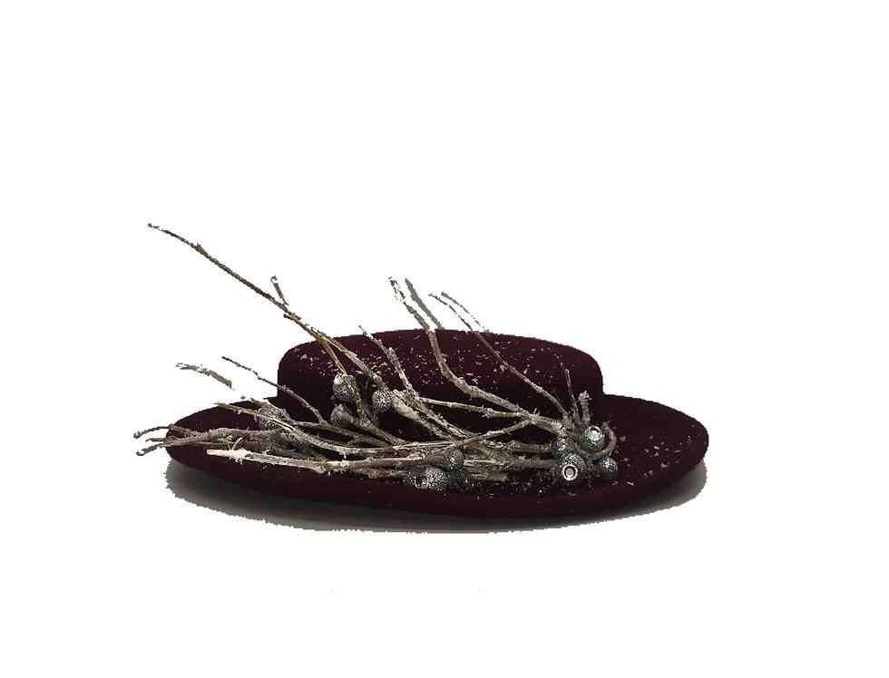 Winter Wonders Embellished Wool Boater Hat