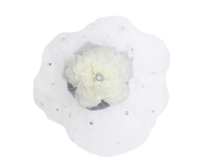 Unbreakable Bond Embellished Netted Flower Bridal Fascinator Clip