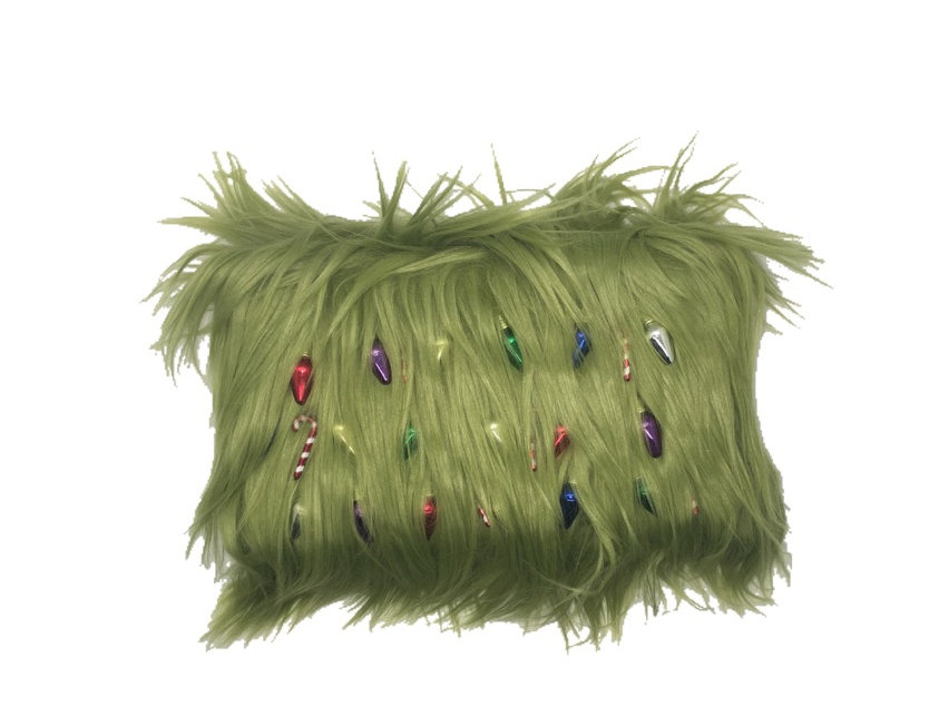 Who Stole Embellished Faux-Fur Christmas Clutch