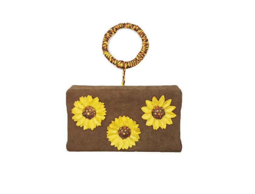 In A Daze Embellished Suede Mini Bag