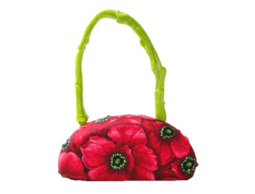 Glittered Bouquet Embellished Micro Bag
