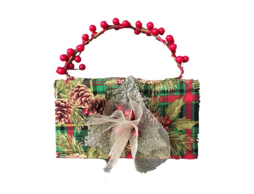 Merry Plaid Embellished Mini Bag