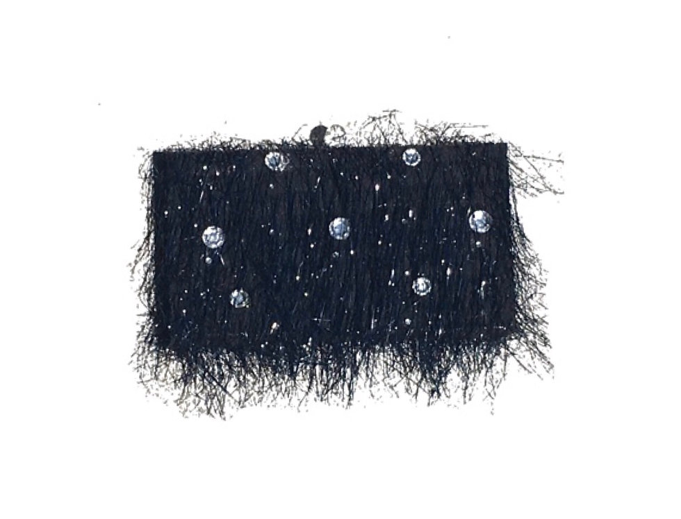 Sparkly Night Crystal-Embellished TinselBox Clutch