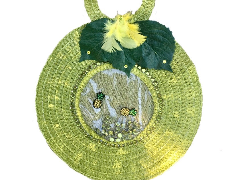 Sunny Side Embellished Woven Tote