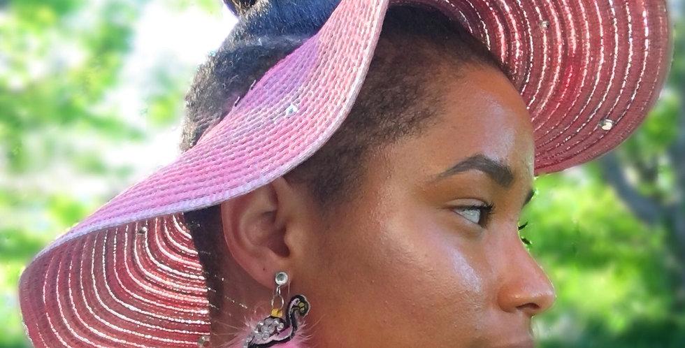 Flo-mingle Crystal-Embellished Sun Visor