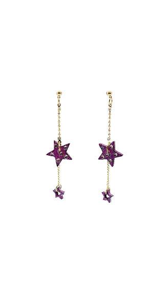 Shining Star 18K Gold-Plated Dangle Earrings