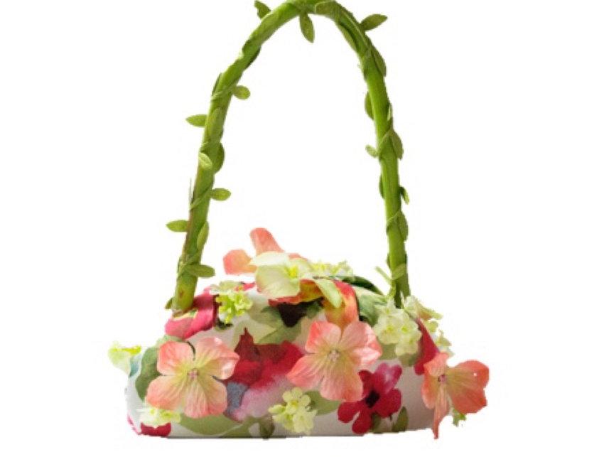 Field of Flowers Appliquéd Micro Bag