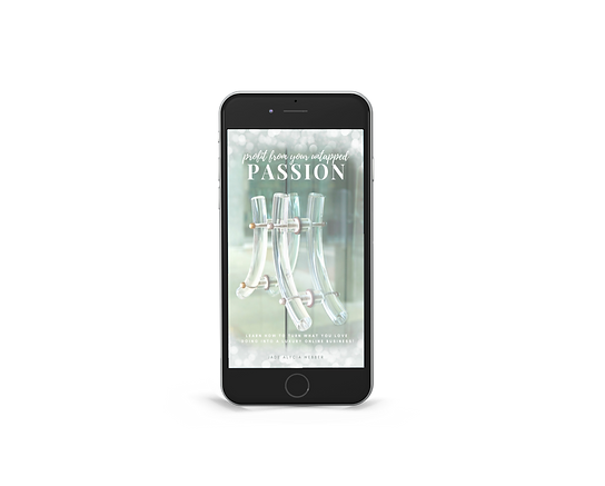 Profit From Your Untapped Passion Ebook