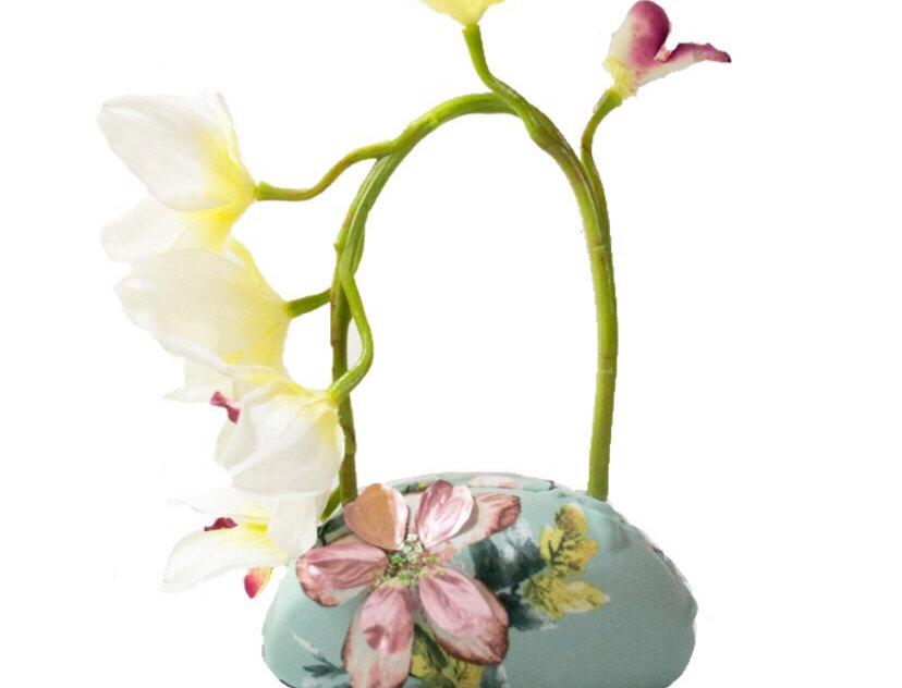 Flower Garden Glittered Appliquéd Micro Bag