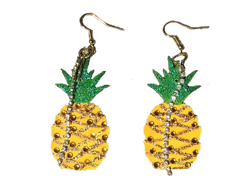 Pineapple Paradise Crystal-Embellished Statement Earrings