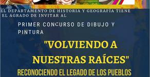 """""""VOLVIENDO A NUESTRAS RAÍCES"""" Primer concurso de pintura u dibujo."""