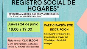"""CHARLA """"CONOCIENDO EL REGISTRO SOCIAL DE HOGARES"""""""